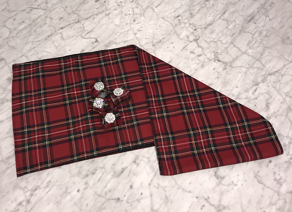 Table Runner, Red Plaid (medium)