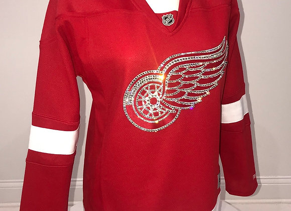 RED WINGS, NHL, L/S Hockey Jersey, Red