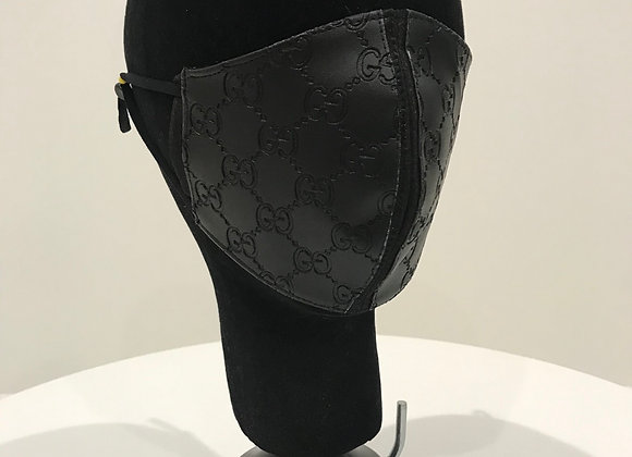 GUCCI, Embossed Leather, Black, GLAMical face mask
