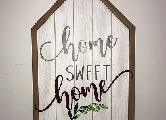 """Home Sweet Home"" Wall Art Swarovski Crystal"