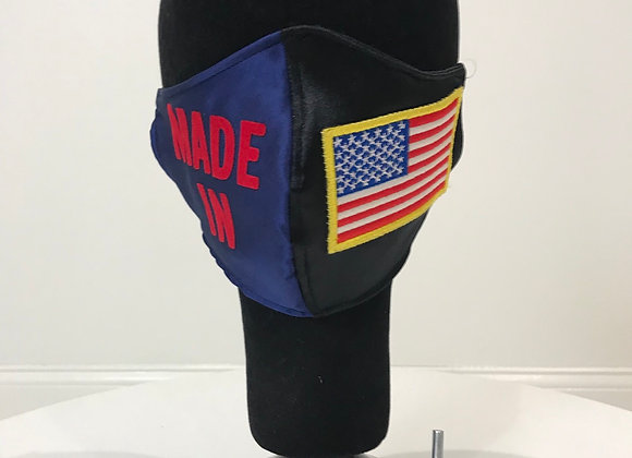 MADE IN USA, Black/Blue Satin, Red Twill, GLAMical f