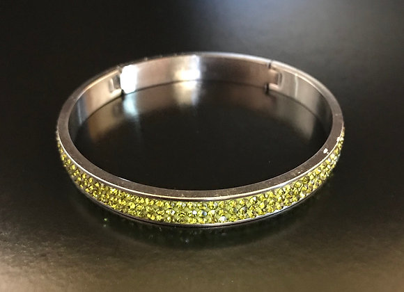 Bracelet, Bangle, Olive Crystals