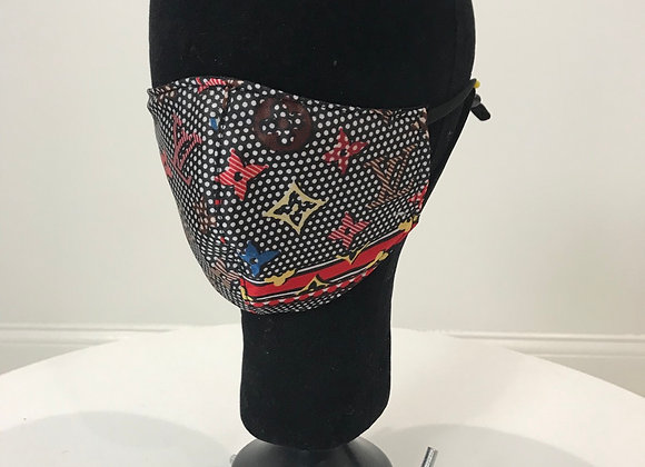 LV Silk, Black Polka Dot pattern, GLAMical face mask