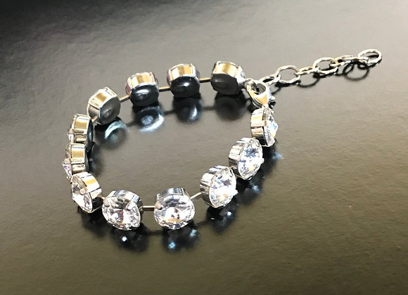 Bracelet, Clear Small Round Crystal