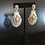 Thumbnail: Earrings, Pierced, Italian Lace Dangle, Cubic Zirconia - Clear/Yellow