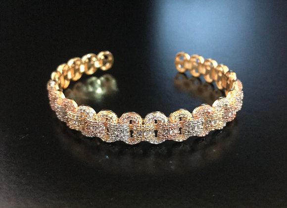 Bracelet, Bangle Cuff, Cubic Zirconia, Weave
