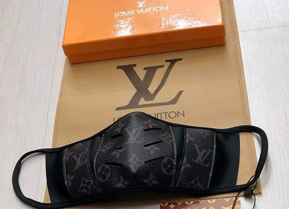 LOUIS VUITTON, Coated Monogram Canvas, Black, face mask