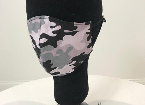 Camoflauge-Black/Gray, GLAMical face mask