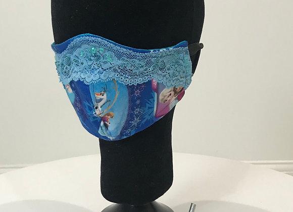 DISNEY, Princess, crystal lace on top border, GLAMical face mask
