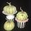 Thumbnail: Pumpkin, Green, Green Chunky Swarovski Crystals