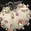 Thumbnail: Pumpkin, White, peach chunky swarovski crystals
