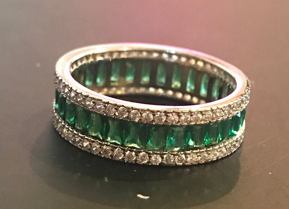 Ring, Emerald, Cubic Zirconia - Clear