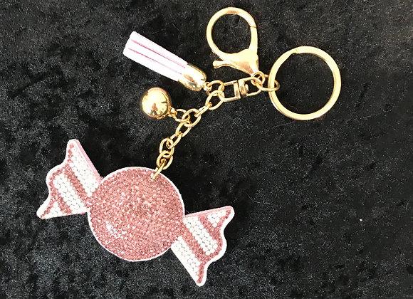 Keychain, Candy, Lilac, Crystal, Tassle