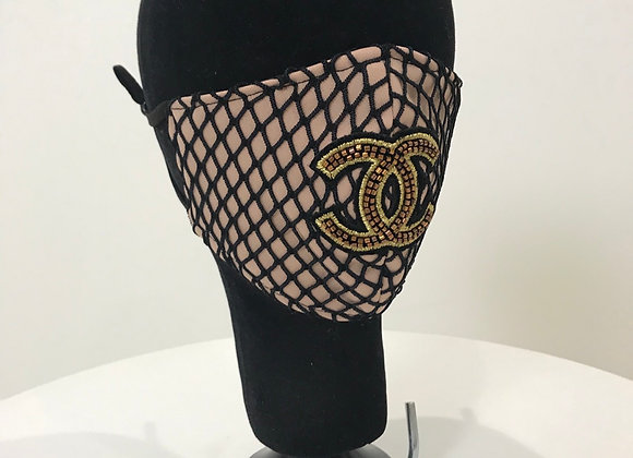 CHANEL, Fishnet Tan, CC Beaded Patch, GLAMical face mask