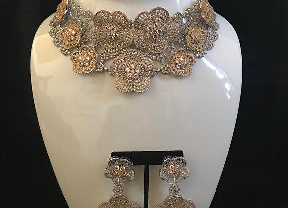 Necklace & Earring Set, Flower
