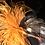 Thumbnail: Pumpkin, Black & White Check, Orange Ostrich Feathers
