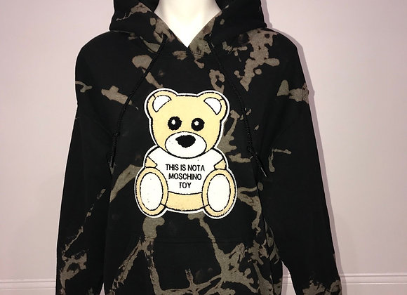 MOSCHINO L/S Bleached Pullover Hoody