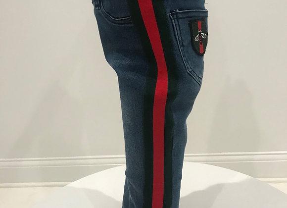 Denim Jeans,  HUDSON, GUCCI Trim & Patch