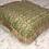 Thumbnail: Decorative Throw Pillow, Damask Burlap, Fringe