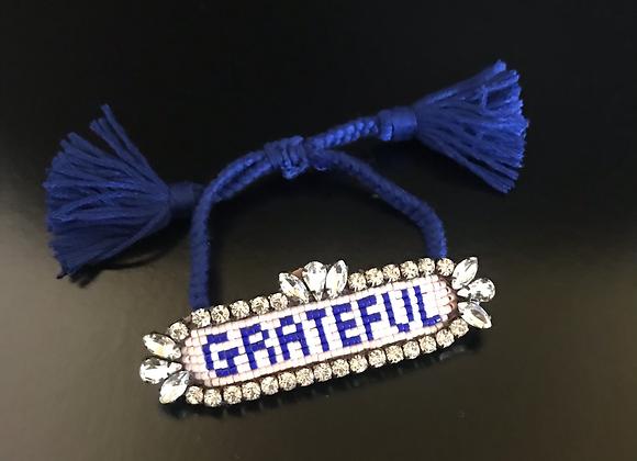 Bracelet, Grateful, Blue