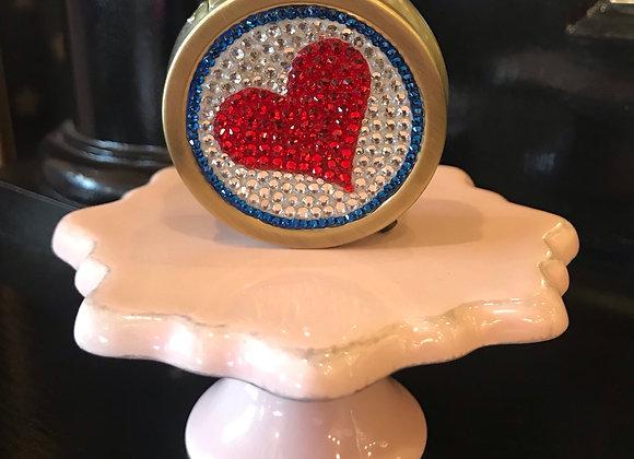 PILL CASE, Heart, Swarovski Crystals
