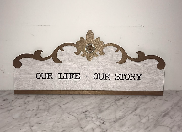 """""""Our Life.. Our Story"""" Wall Art Swarovski Crystal"""