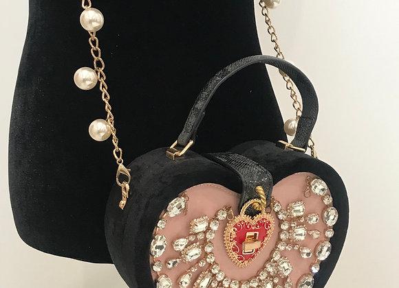 Purse, Dolce & Gabbana inspired, Black Heart