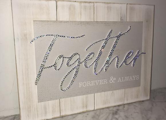 """""""Together Forever & Always"""" Wall Art Swarovski Crystal"""
