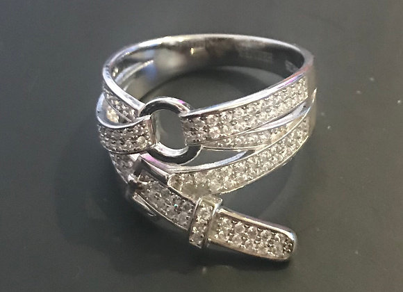 Ring, Belt, Cubic Zirconia - Clear