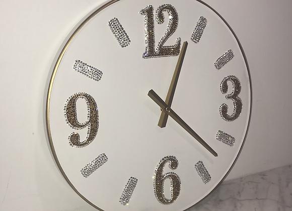 """Clock"" Wall Art Swarovski Crystals"