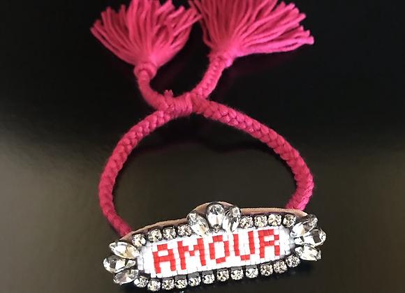 Bracelet, Amour, Hot Pink