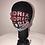 Thumbnail: JIMI HENDRIX, Graphic T-shirt, Black, Red Graphics, GLAMical face mask
