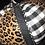 Thumbnail: Pumpkin, Black & White Check/Leopard, Clear Crystal Black Bezel Trim