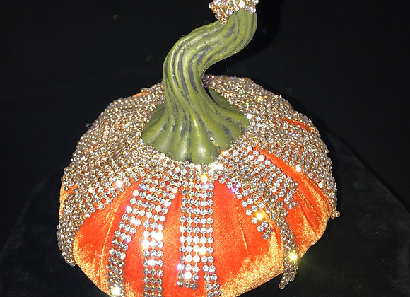 Pumpkin, Orange, crystal mesh trim