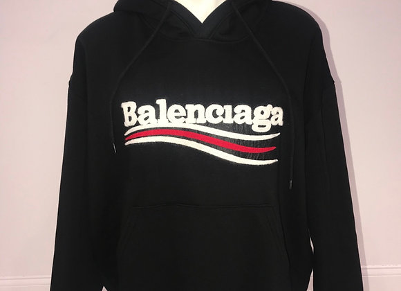 BALENCIAGA, L/S Hoody Sweatshirt, Black