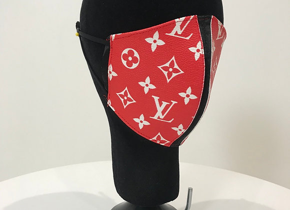 LOUIS VUITTON Supreme, Red Coated Monogram Canvas, face mask