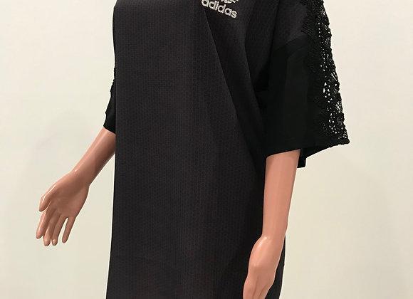 ADIDAS, Dress, Gray, Black Lace