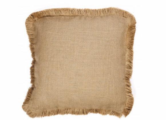 Decorative Throw Pillows, Burlap, Fringe