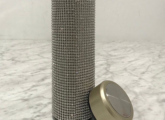 Gold, Coated Stainless Steel Thermos, Crystal Mesh