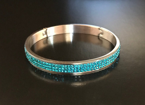 Bracelet, Bangle, Turquoise Crystals