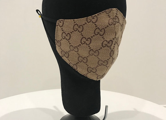 GUCCI, Lt. Brown Brocade, GLAMical face mask