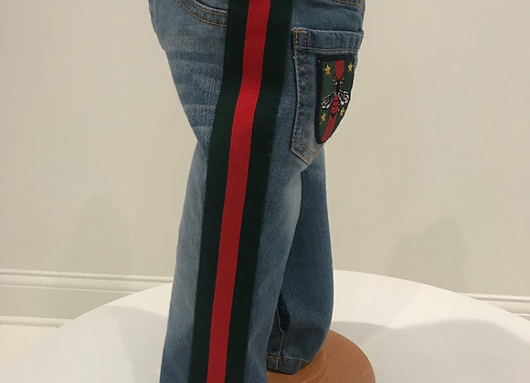 Denim Jeans, 7 FOR ALL MANKIND, GUCCI Trim & Patch