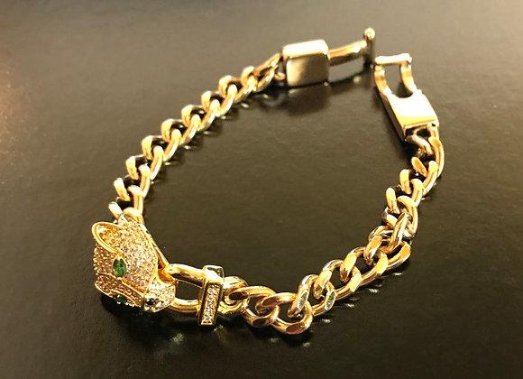 Bracelet, Gold, Leopard