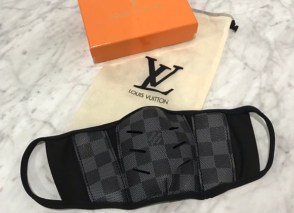 LOUIS VUITTON, Coated Damier Canvas, Black Square, face mask