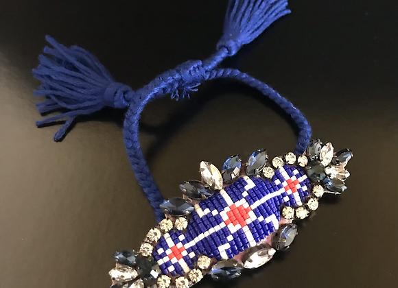 Bracelet, Floral, Blue