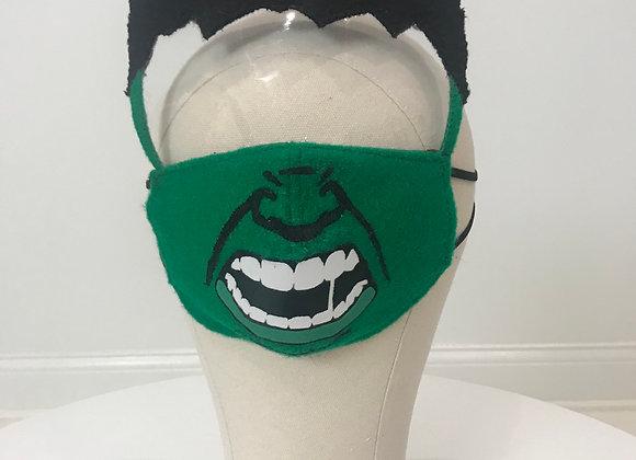 HULK, character face shield, GLAMical face mask
