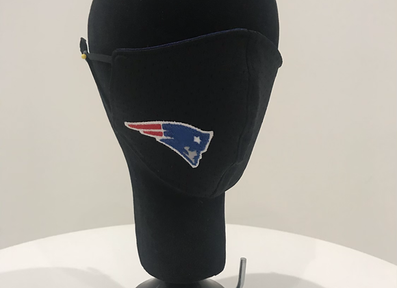 NEW ENGLAND Patriots, Black Jersey, GLAMical face mask