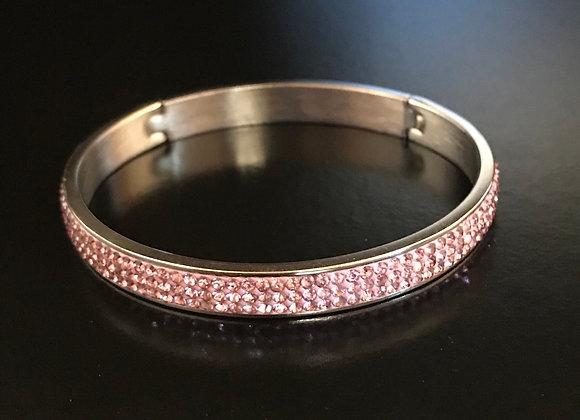 Bracelet, Bangle, Pink Crystals