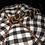 Thumbnail: Pumpkin, Black/White Check, Orange Rhinestone Trim