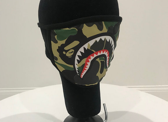 BAPE Replica, Fashion face mask, Shark Camo, 3 colors